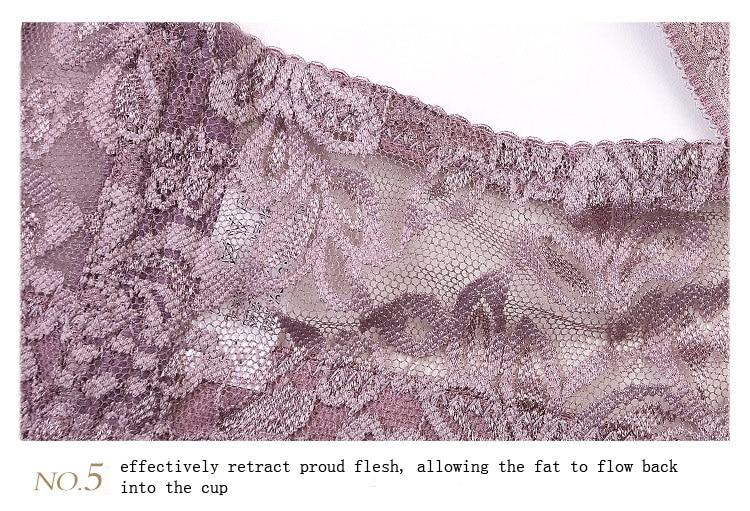 Plus size Foreign Trade Ultra-thin Lace Sexy Thin Cotton Cup Plump Big Push Up Bra Bralette Encaje Sexy Bra modis lingerie 47
