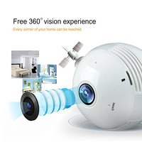 1 3MP 2 0MP Light Bulb Wireless IP 360 Degree Camera 960P 1080P Wi Fi Panoramic
