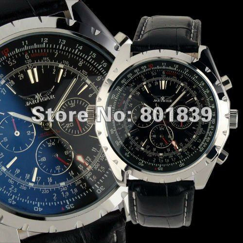 popular blue face watch buy cheap blue face watch lots from nobel blue face automatic self wind watch mens 6 hands date calendar leather band nice