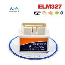 White Small ELM 327 Bluetooth OBD2 OBDII ELM327 Car Diagnostic Scanner ELM327 V2 1