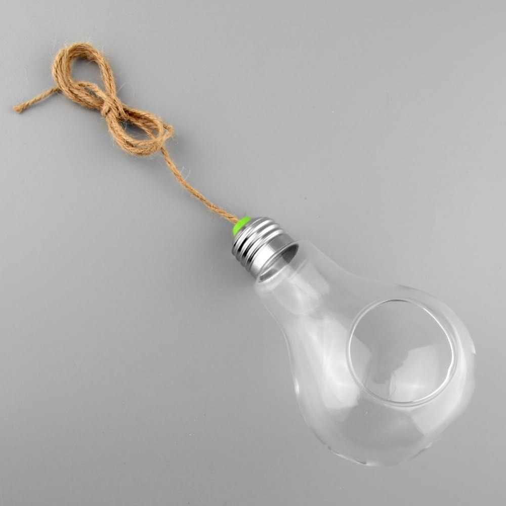 Лампа в форме лампы стеклянная ваза бутылка с подвесом Террариум гидропонный контейнерный горшок для декора; ваза с цветами домашний садовый декор