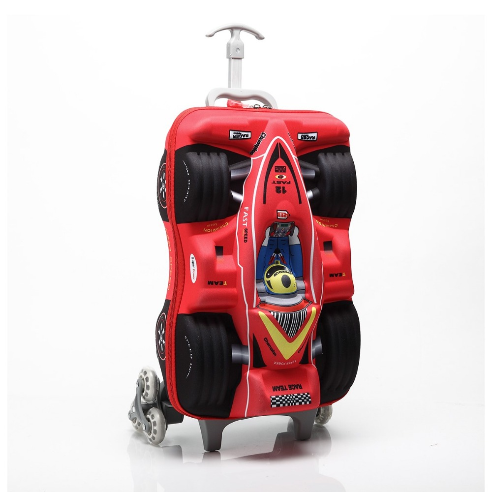 Lovely Hot 16 Cars 3d Extrusion Eva Trolley Case Boy Kids Cool Climb Stairs Luggage Suitcase Travel Cartoon Boarding Box Child Gift Nourishing Blood And Adjusting Spirit Luggage & Bags Luggage & Travel Bags
