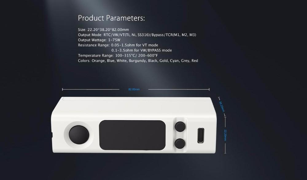 100% Original Joyetech eVic VTwo Mini With Cubis Pro Kit 75W box Mod Temp Control elektronik cigarette Updated Evic VTC Mini Kit-11