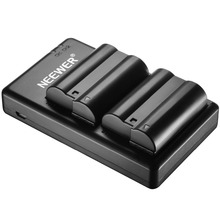 Neewer 2 Pieces 2100mAh Replacement Li ion Battery for Nikon EN EL15 and Micro USB Input