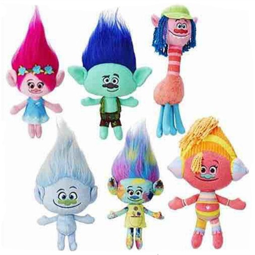 Movie Trolls Plush Toys Dolls Figures Poppy Branch Peluche Stuffed Brinquedos Hot Kids Chidlren Gift 6pcs/lot 8pcs lot 8 12cm trolls movie poppy branch statue pvc action figures collectibles dolls anime figurines kids toys for boys girls