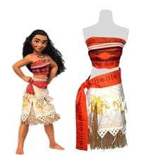 Hot Movie Moana Princess Cosplay Costume For Girls Party Dress Kids Halloween Carnival Fancy Gift