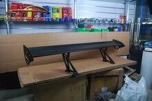 HB Universal Black Auto Car Hatchback SpoilerGT Rear Trunk Wing Racing Spoilers Adjustable Aluminum