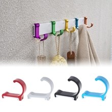 Space Aluminum Clothes Robe Towel Single Hook Solid Hanger Decorative Bathroom Hooks Wall Mounted R06 Drop Ship