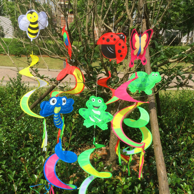 5pcs/lot Animal Spiral Outdoor Colorful Windmill Wind Spinner Lawn Garden  Yard Outdoor Decor New