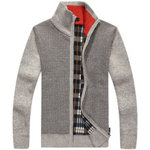 2016 Brand Clothing Men's Sweater MK150 Sweatercoat Zipper Collar Casual Cardigan Sweater Men M-3XL Plus Size