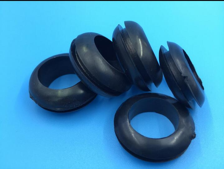 Inner Diameter:3MM 4MM 5MM 6MM 7MM 8MM 10MM 12MM Double Sided Plastic Grommet Rubber Grommet ROHS Black