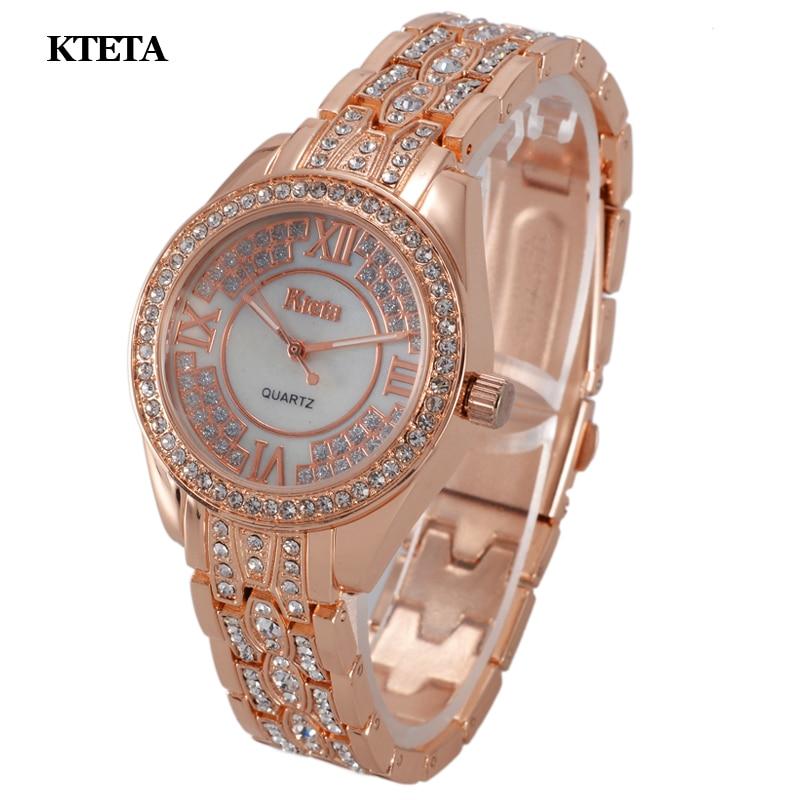 Reloj mujer gold quartz horloge vrouwen beroemde merk luxe diamant - Dameshorloges - Foto 3