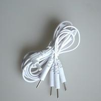20 Stks Pin 2.35mm 4 in 1 Head Elektrode Kabel Lijn Connector Draad digitale Tientallen Acupunctuur Therapie Machine Naald behandeling Draad
