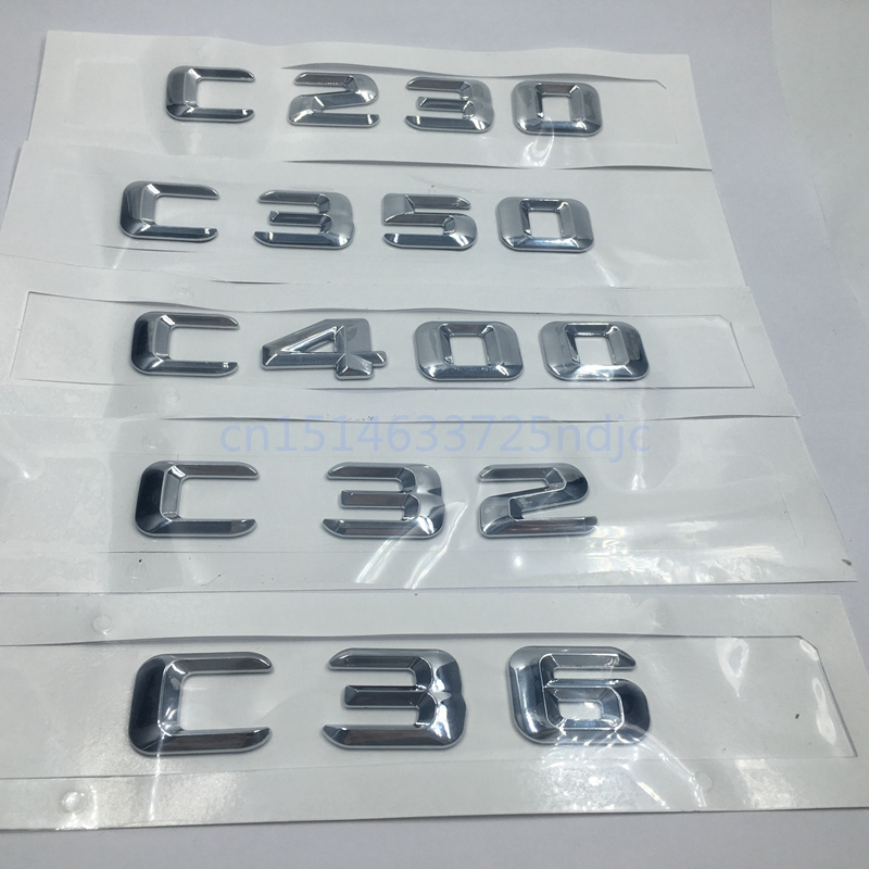 для Мерседес-Бенц АМГ Тип W202 моделей Мерседес W203 C-Класс С230 С350 С400 С32 С36 багажник багажника эмблема значок алфавит письмо наклейки