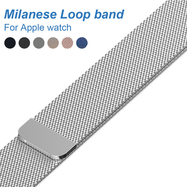Milanese Loop Band for Apple watch 42mm 38mm Link Bracelet Strap Magnetic adjustable buckle with adapter for iwatch Series 3 / 2 процессор для серверов hpe xeon e5 2650 v4 2 2ггц [817943 b21]