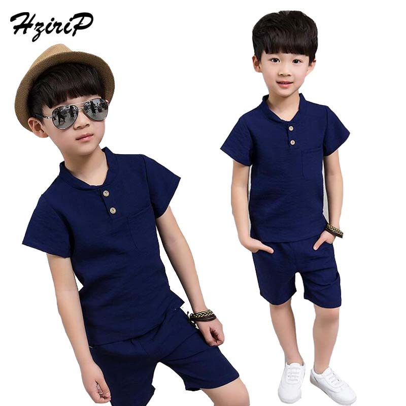 HziriP Retail 2017 New Summer Children Sets Casual Baby Kids Boys Clothes Tops T-shirt + Shorts Pant Kids Tracksuit Boys Set lacywear s 168 fio