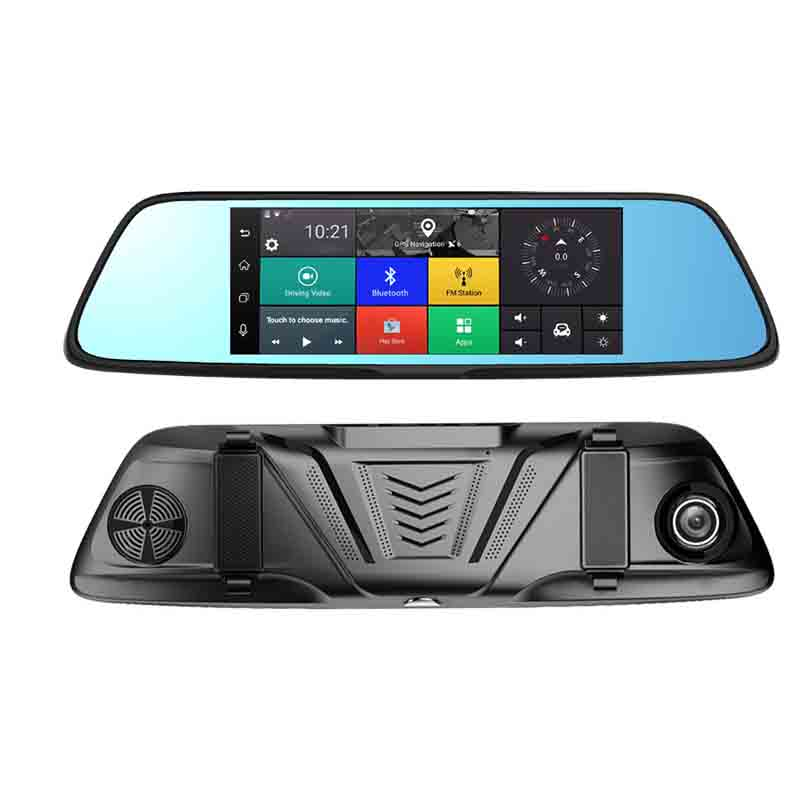 Intelligent rearview mirror Car DVR Android navigation 4G all Netcom cloud mirror all-in-on