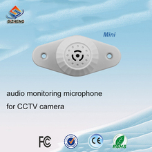 SIZHENG COTT-C5 Ceiling security audio monitor CCTV microphone high sensitive pick up sound for security cameras system audio pick up high sensitive mini cctv audio microphone mic for security cctv camera dvr system