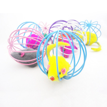 2016 Popular For Pets Cat toy toys Cute Kitten Gift Funny Play Toys Mouse Ball Best Cat Gift Random Colors