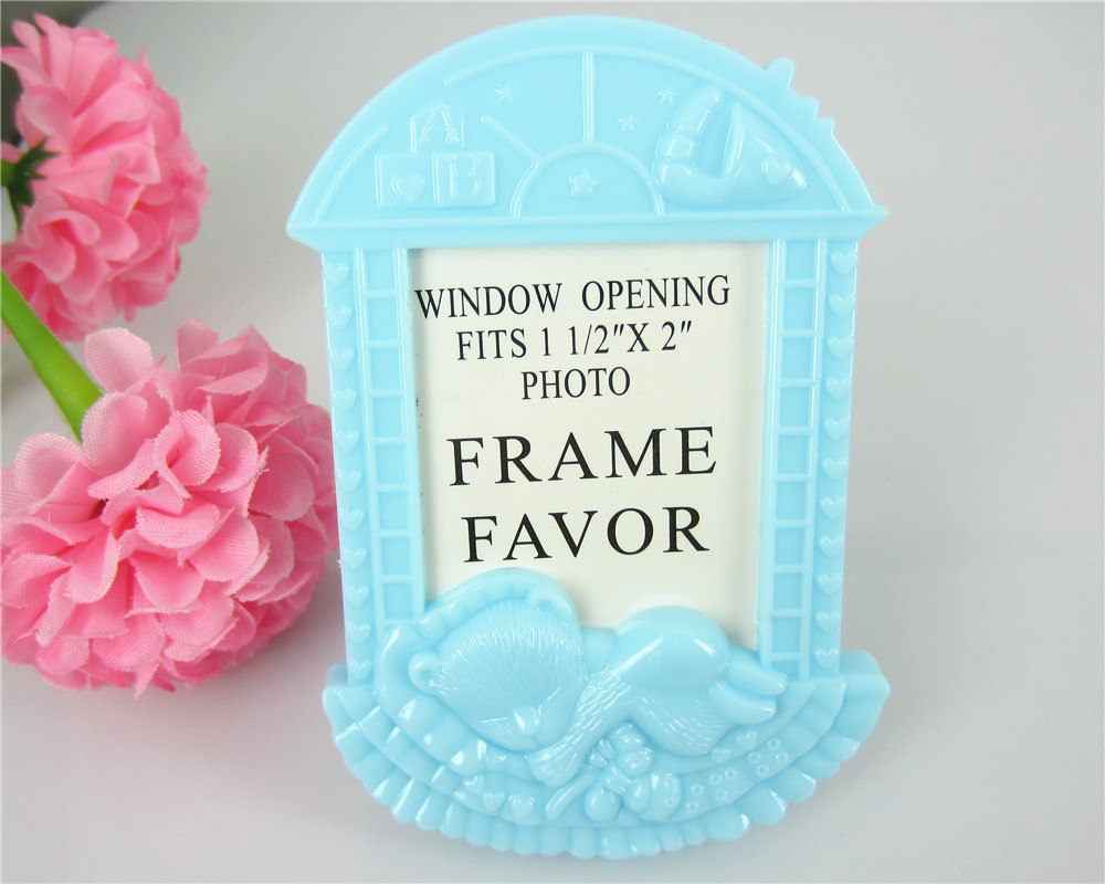 6pcs 1 12x2 window opening photo frame mini baby picture frame party favors blue baby shower decor