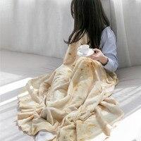 Baby Girls Warm Flannel Blanket for Nap Children High Quality Bedding Kids Wrapper Blanket Infant Soft Swaddles Diameter 150cm