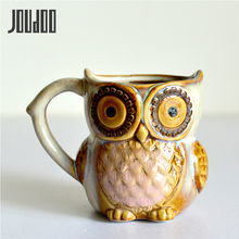 JOUDOO 3D Animal Cute Owl Mugs 300ml Cartoon Coffee Mug Ceramic Milk Tea Cups Breakfast Morning 35