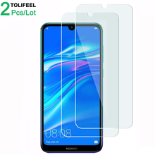 2Pcs Tempered Glass For Huawei Y7 2019 Screen Protector 9H 2.5D Phone