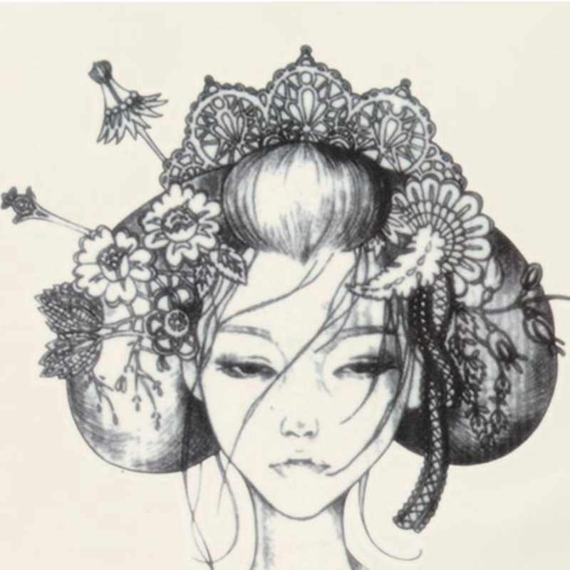 1pc Design Japan Geisha Girl Tattoo Summer Style Tattoo Sticker Sexy Body Arm Sleeve Fake Waterproof Tattoo Lady