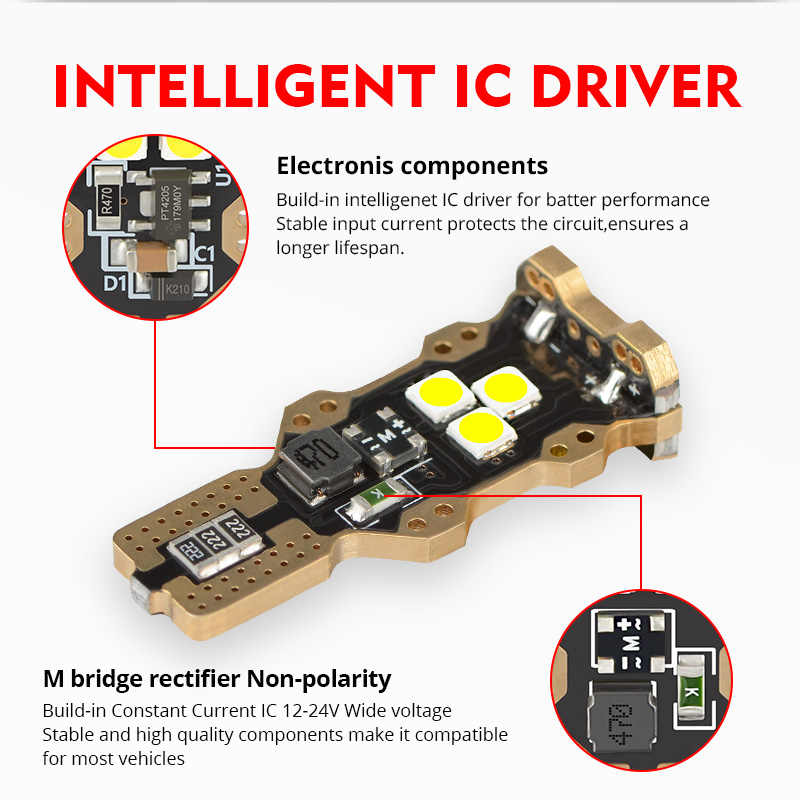 NAO W16W T15 светодиодный светильник CANBUS без ошибок супер яркий Обратный светильник W16W 1300LM Янтарный 5 Вт 3030 Белый 12 в 24 в авто стоп-сигнал