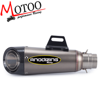 Motoo Universal 51MM Motorcycle Exhaust Escape Modified Scooter Carbon Fiber Exhaust Muffle Fit For Most Motorcycle