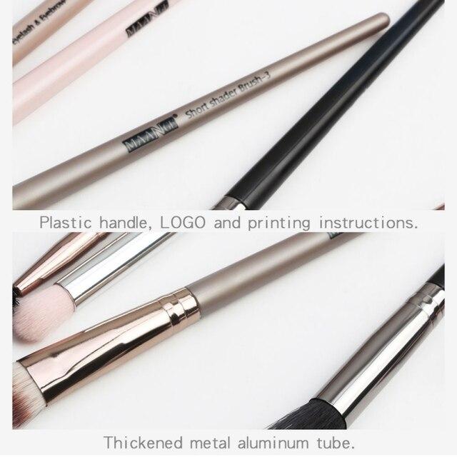 1 Set EyeMakeup Brushes Set Eyeshadow Brush Eyebrow Comb Brush  Eyelash Bevel Eyeliner Smudge Brush Kit 4