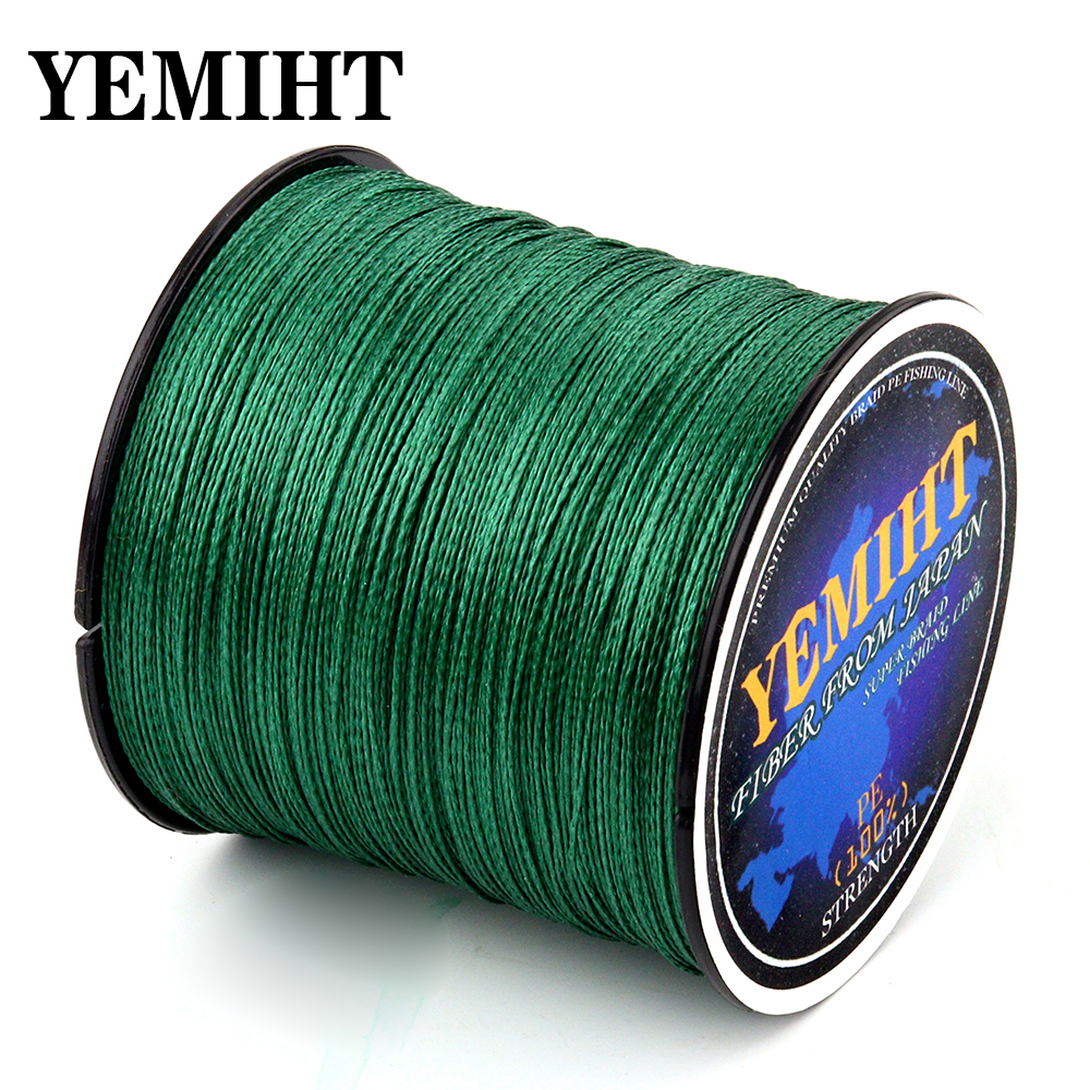 YEMIHT 4 Strands Braided Line 100M 300M 10-80LB PE Multifilament tresse peche 4 braid Line
