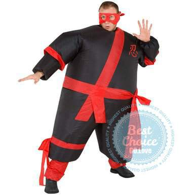 unisex adult halloween costume inflatable ninja samurai costumes air blown up suits mardi gras carnival costumes