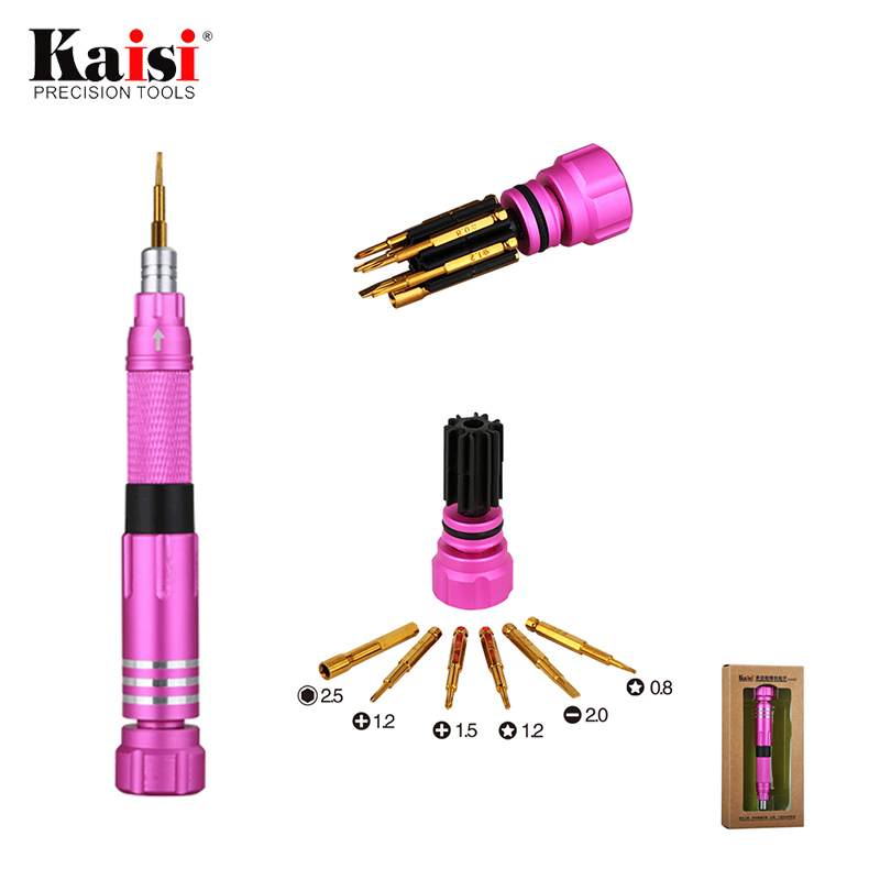 7in1 High Quality Precision Screwdriver Phone Teardown Repair Tool 2.5mm Hex Nut Screw Driver for iPhone 4s 5 5s 6 6s Plus 7 8 X