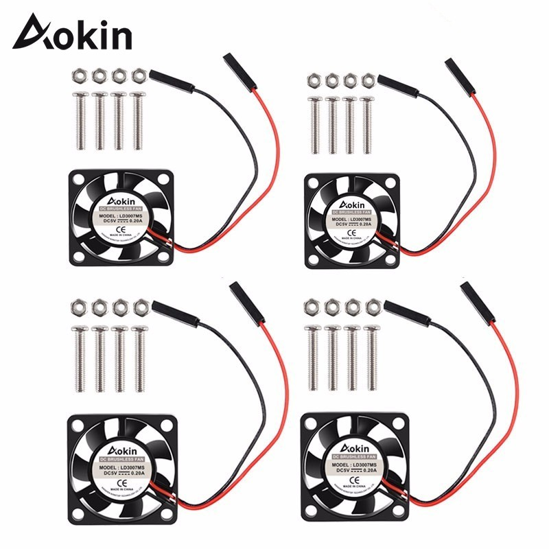 For Raspberry Pi Fan Small Computer Fan For Raspberry Pi Cooling Fan 30x30x7mm Brushless CPU Cooling Fan For Raspberry Pi 3 B+