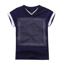 Обувь для мальчиков одежда рубашка для мальчика 2018 Новая мода высокого качества печати летние топы футболки с короткими рукавами для Обувь ...