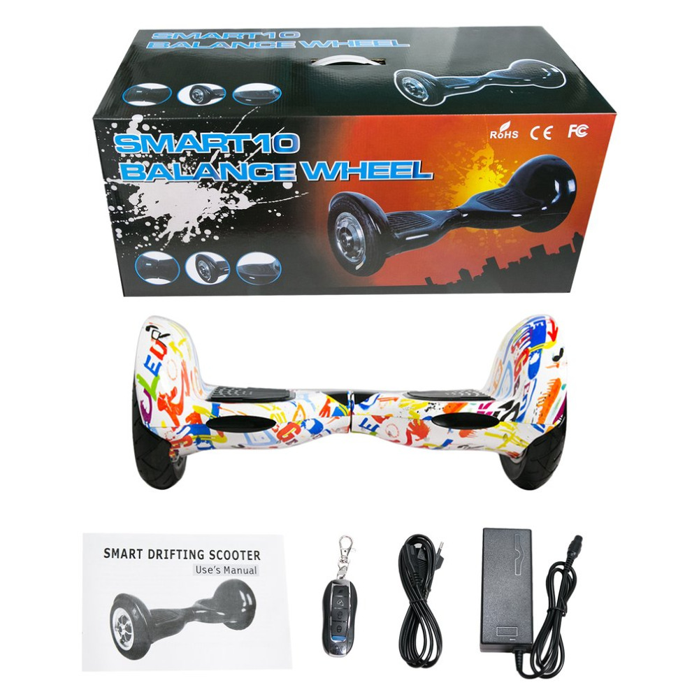 Hoverboard 10 pouces pneu deux roues Bluetooth auto Balance Scooters Smart Hover Board parfait cadeau EU Plug livraison gratuite