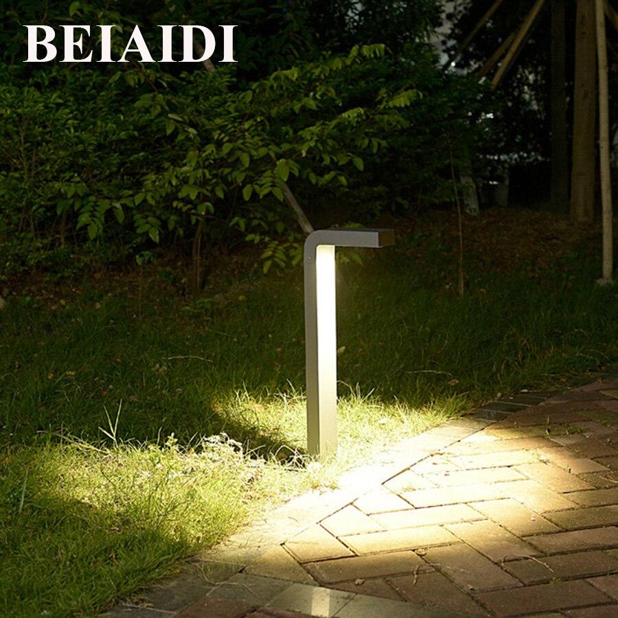 BEIAIDI 10 w À Prova D' Água Suporte Pólo Coluna CONDUZIU a Luz Do Gramado Do Jardim Ao Ar Livre Caminho Paisagem Lâmpada Bollard Luz Villa Comunidade Parque