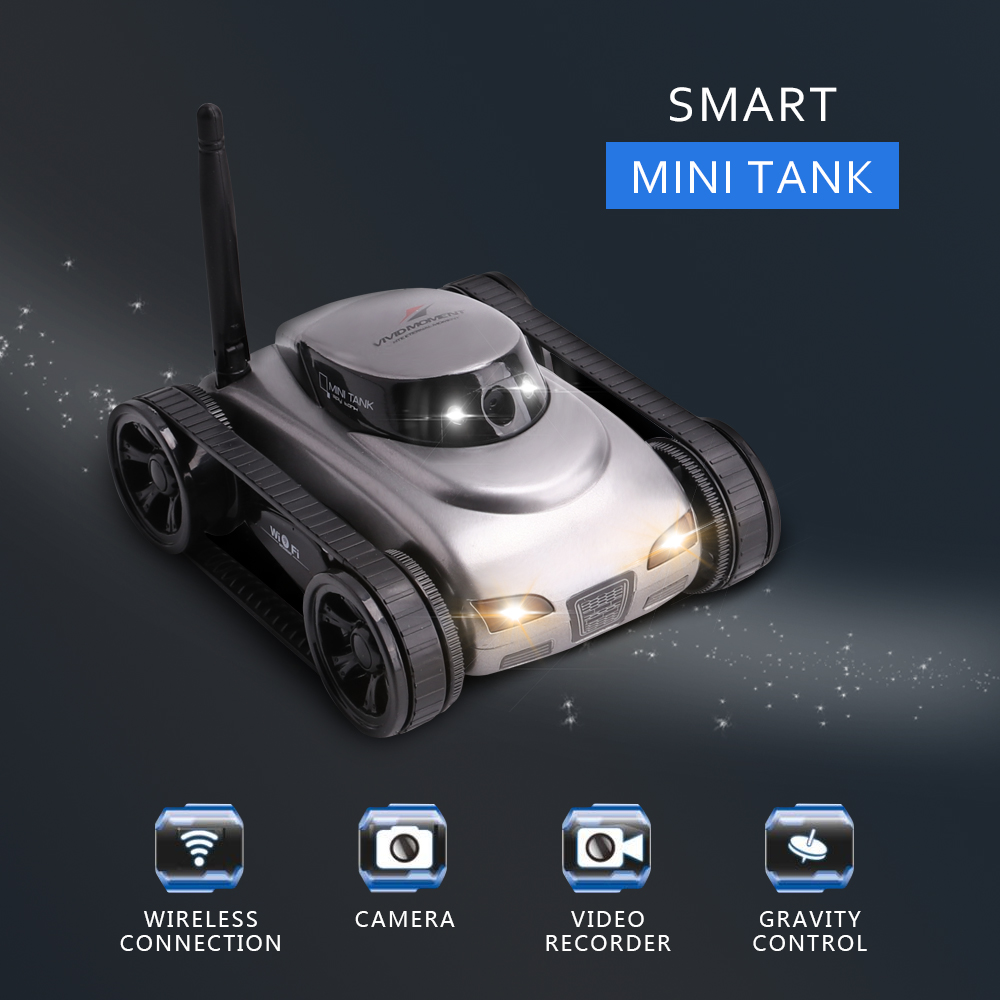 New I-Spy Smart Mini Tank APP Wifi Remote Control Car with Camera Best Toy Gift for Children Boys new arrive good quanlity children s toy best gift