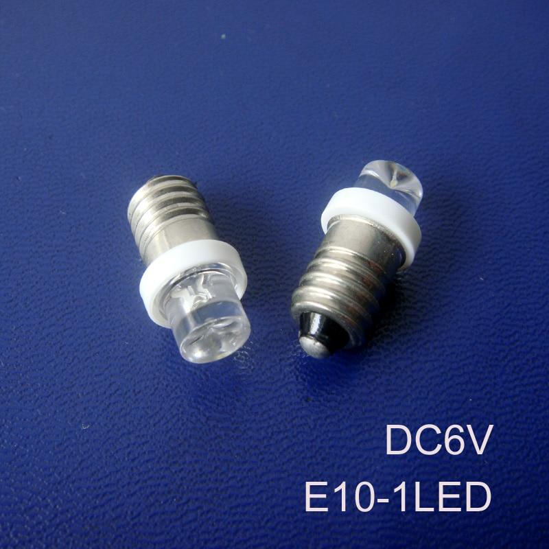 High Quality 6v E10 Led Indicator Light,car E10 Led Dashboard Warning Indicator 6.3v E10 Led Bulbs 6vdc Free Shipping 100pcs/lot Led Bulbs & Tubes Lights & Lighting