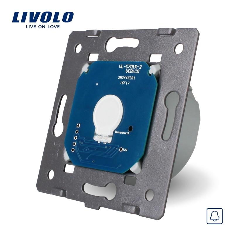 Livolo Manufacturer EU Standard,AC 220~250V The Base Of Touch Screen Wall Door Bell Switch, VL-C701B