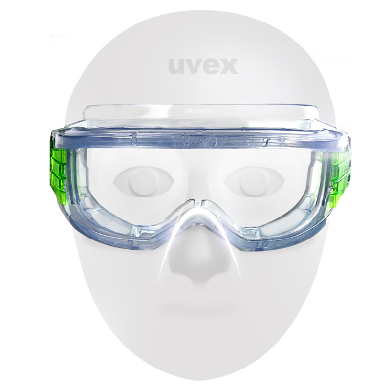 UVEX Safety Goggles Anti impact Windproof Protective Eyewear Transparent Lens Eyeglasses Dustproof Outdoor Sporty Riding Goggles in Safety Goggles from Security Protection