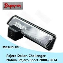 Para mitsubishi pajero sport challenger nativa pajero dakar 08 ~ 14 sony hd ccd coche cámara de marcha atrás cámara de visión trasera inversa