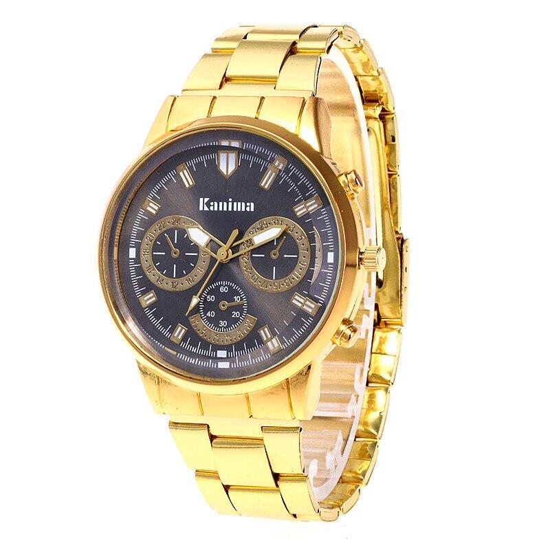 Dropshipping Relogio homem New Luxury Brand fashion Sport Gold watch men Big dial dress quartz wrist watches Relojes Hombre Gift