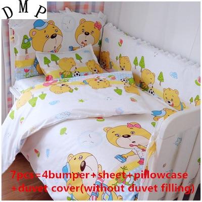 6/7PCS 100% Cotton Infant Bedclothes Set, Baby Bedding Set Tour De Lit Bebe, 120*60/120*70cm