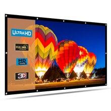 HENZIN Модернизированный утолщенный 100 дюймов складной проектор экран 16:9 Матовый Белый Передний Задний домашний наружный кинотеатральный проекционный экран