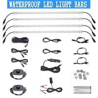 4pcs 12V Rigid Light Bar Waterproof LED Strip Connector Combo Kit Outdoor/Indoor