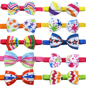 Image 4 - 120pcs Mixed Styles Pet Puppy Dog Cat Bow Ties/Bowties Adjustable Dog Grooming Bows Accessories Dog Ties Pet Products