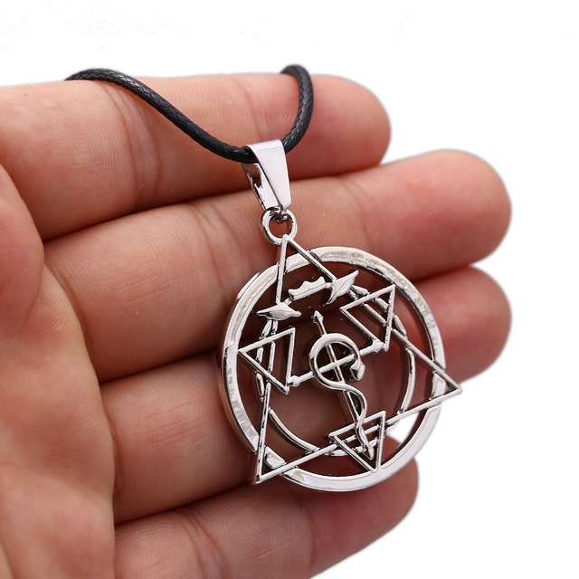 Fullmetal Alchemist Choker Necklace Magic Circle Pendant Men Women Gift Anime Jewelry Accessories