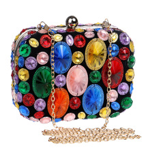 Evening Clutch Bags Banquet Bag Dress Bag Crossbody Bags for Women Clutch Purse Party Purse Diamonds Minaudiere Cover Box Single цена и фото